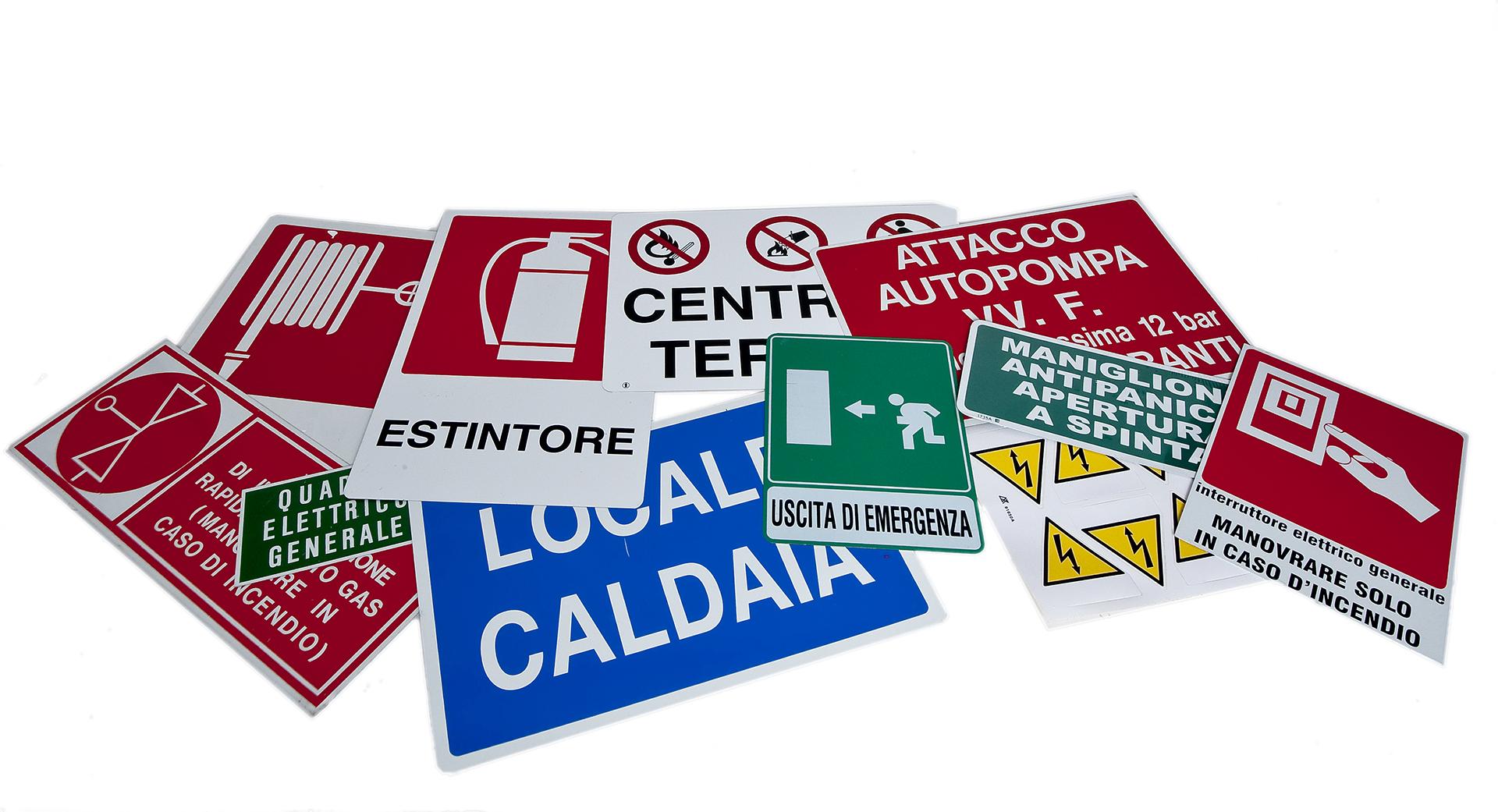 cartelli sicurezza sul lavoro